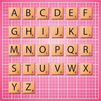 Alfabeto completo em letras maiúsculas em letras rabiscadas para criar a frase