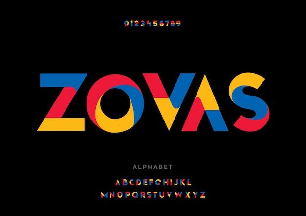 Alfabeto. conjunto de letras futuristas da moda