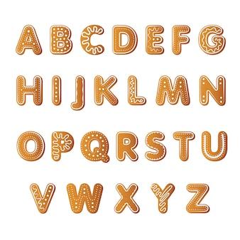 Alfabeto de biscoitos de gengibre