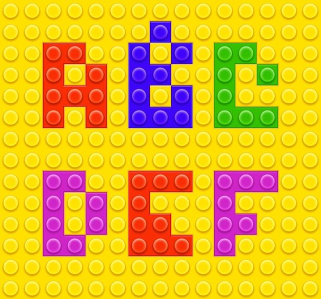 Alfabeto de brinquedos de tijolo infantil