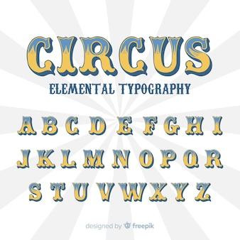 Alfabeto de circo vintage