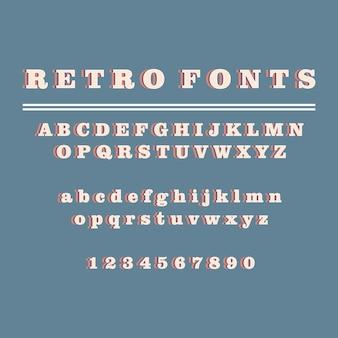 Alfabeto de estilo retro 3d isométrico conjunto de fontes pop art tipografia letras ilustração vetorial