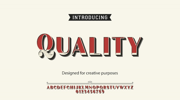 Alfabeto de fonte de tipo de letra de qualidade