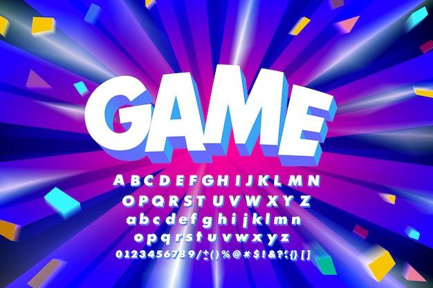 Alfabeto de jogo branco
