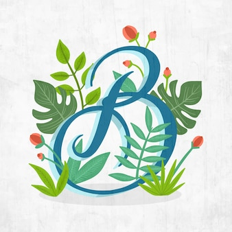 Alfabeto de letra criativa b