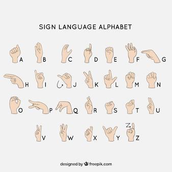 Alfabeto de língua de sinais