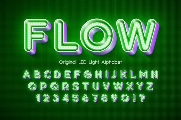 Alfabeto de luz led