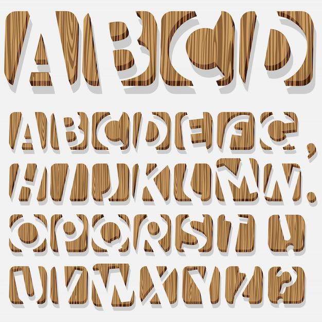 Alfabeto de madeira