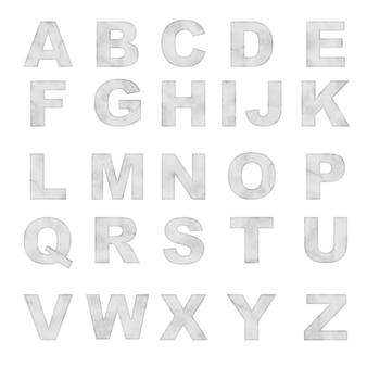 Alfabeto de mármore branco de vetor definido letras luxuty para design de tipografia