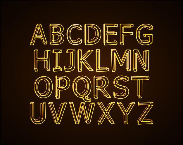 Alfabeto de néon.