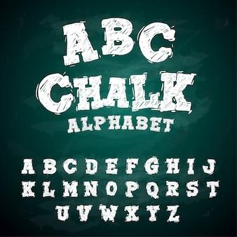 Alfabeto de quadro-negro do alfabeto abc
