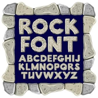 Alfabeto de rock de desenho animado