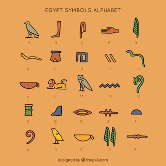 Alfabeto de símbolos do egito