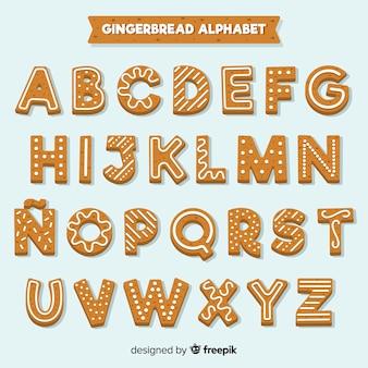 Alfabeto decorado de gengibre
