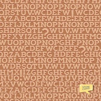 Alfabeto do tipo de letra antigo latino. padrão de letras. textura sem emenda