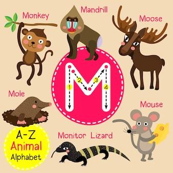 Alfabeto do zoológico de letra m