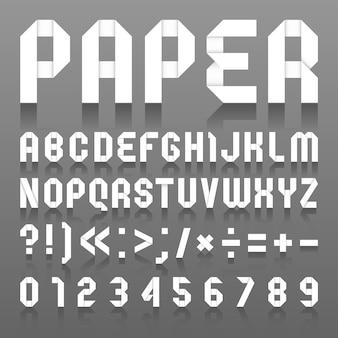 Alfabeto dobrado de papel