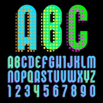 Alfabeto em estilo pop art,