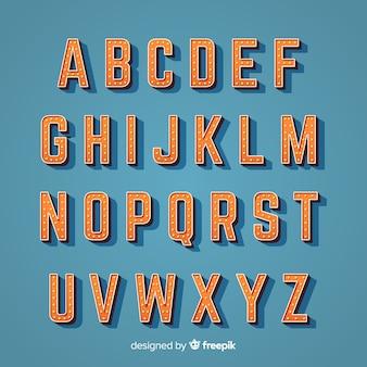 Alfabeto em estilo vintage