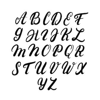 Alfabeto em maiúsculas escrito à mão
