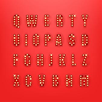 Alfabeto estilo retro clipart
