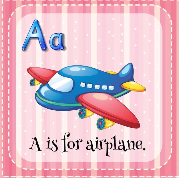 Alfabeto flashcard a é para avião