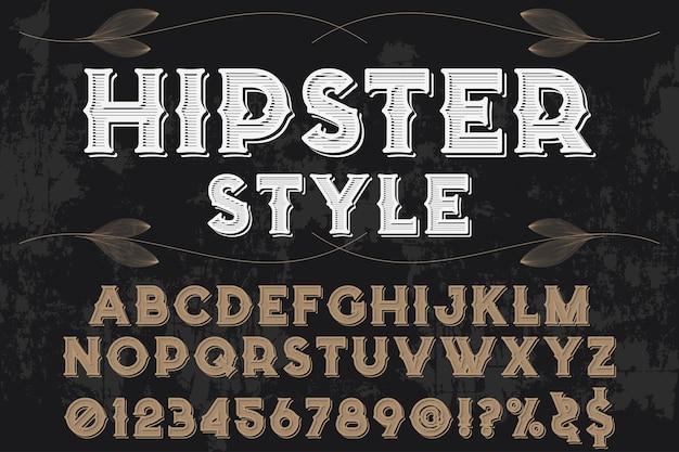 Alfabeto handcrafted tipografia fonte projeto hipster estilo