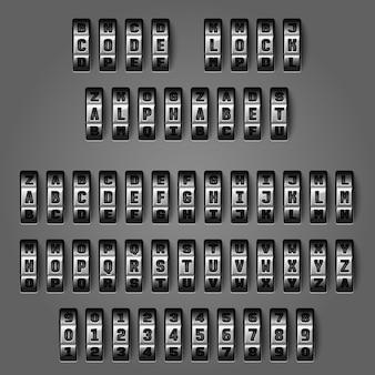 Alfabeto mecânico para códigos de combinação