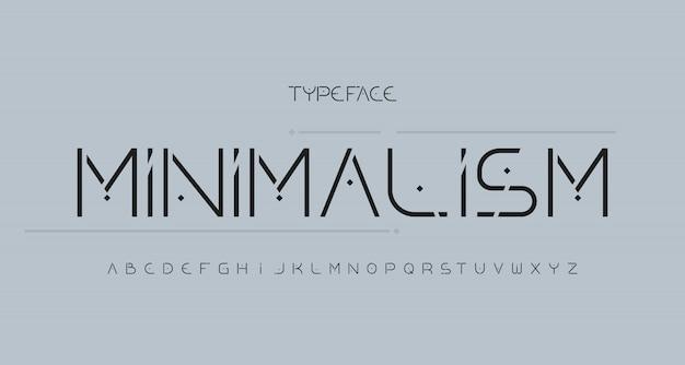 Alfabeto moderno elegante sem fonte serif