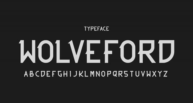 Alfabeto moderno sem serifa fonte