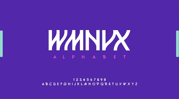 Alfabeto moderno urbano. fonte de tipografia