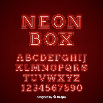 Alfabeto néon