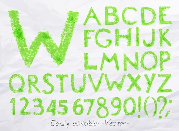 Alfabeto pastel verde