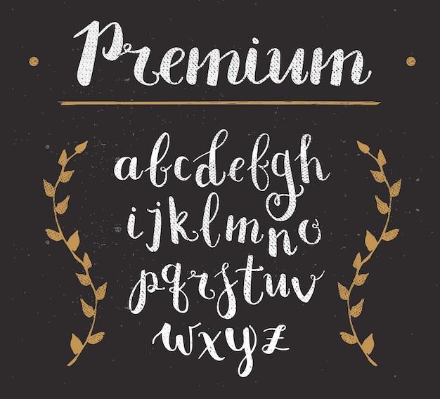 Alfabeto premium desenhado à mão