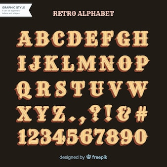 Alfabeto retro