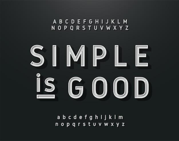 Alfabeto sem serifa vintage