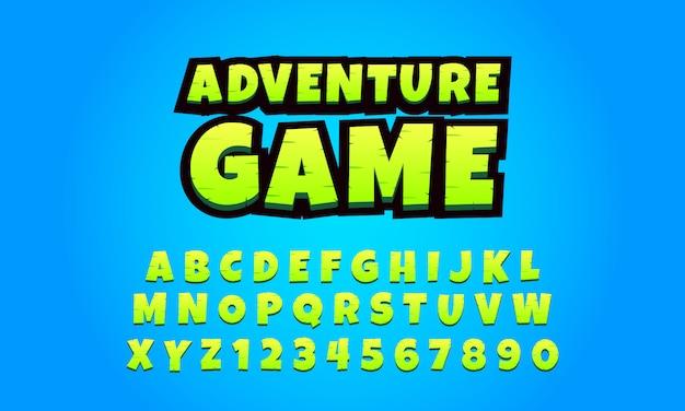 Alfabetos 3d para jogos para celular, fonte de jogos - vetor