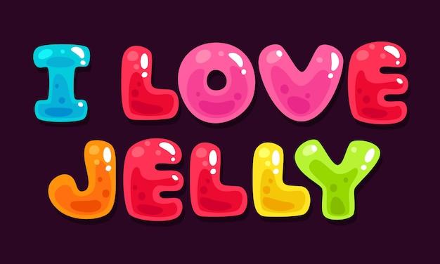 Alfabetos coloridos de geléia