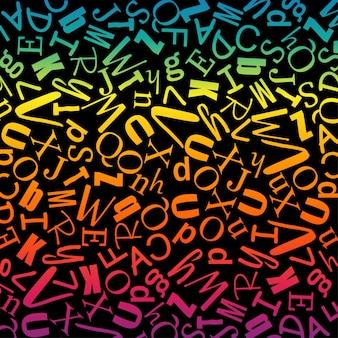 Alfabetos em padrão uniforme