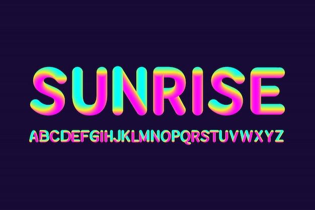 Alfabetos líquidos sunrise