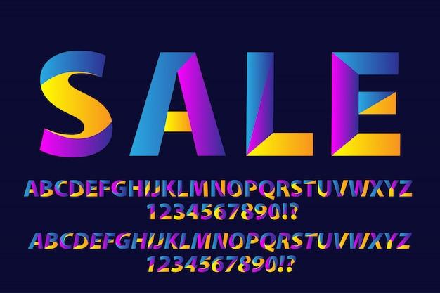 Alfabetos multicoloridos projetam incrível