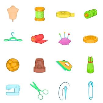 Alfaiataria conjunto de ícones
