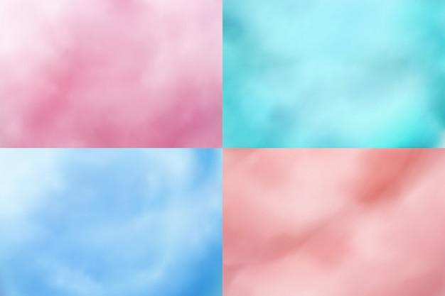 Algodão doce s. texturas de sobremesa doce realista candyfloss