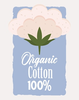 Algodão orgânico natural