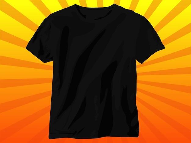 Algodão preto t-shirt vector roupas