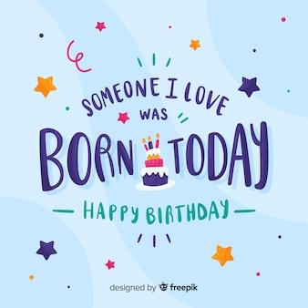 Alguém que eu amo nasceu hoje cartão de aniversário