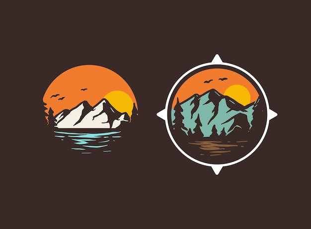 Alguns emblemas do logotipo da aventura
