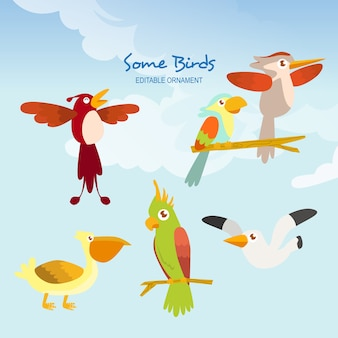 Alguns pássaros allen