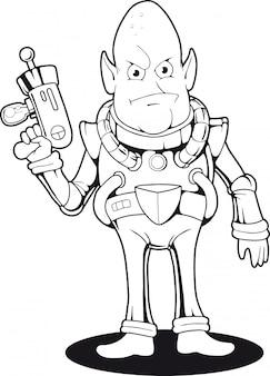 Alien dos desenhos animados