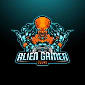 Alien gamer mascote esport